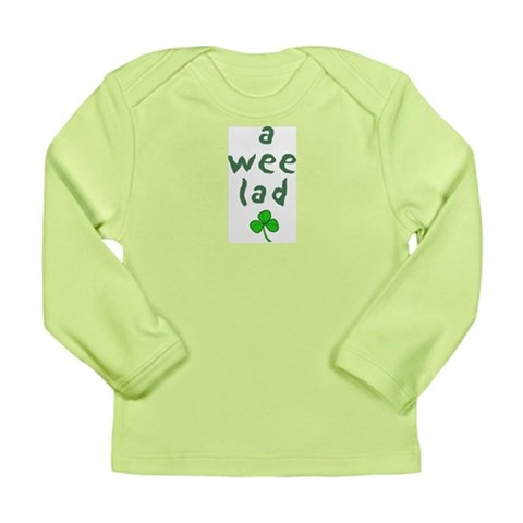 A Wee Lad  Irish Long Sleeve Infant T-Shirt by CafePress