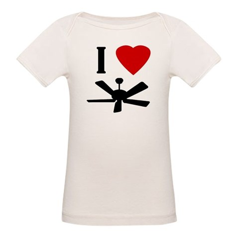 I Love Fans  Funny Organic Baby T-Shirt by CafePress