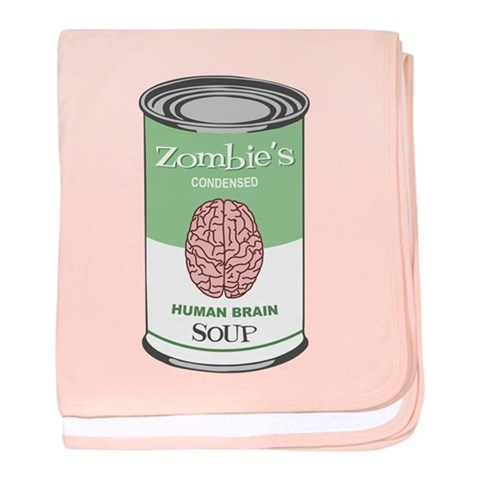 Zombie's Human Brain Soup Infant Blanket Funny baby blanket by CafePress