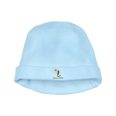 Baby Surf Infant Cap Beach baby hat by CafePress