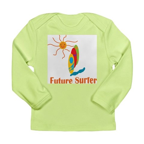Baby Surf  Beach Long Sleeve Infant T-Shirt by CafePress