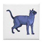 Russian Blue Cat Portrait Tile Coaster