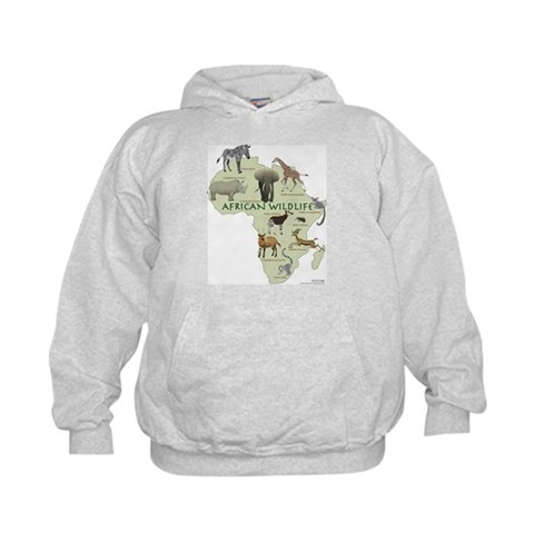 african wildlife  Nature Kids Hoodie by CafePress