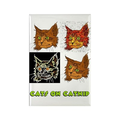 Cats On Catnip Cat Magnet