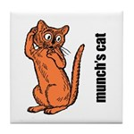 Edvard Munch's Cat Tile Coaster