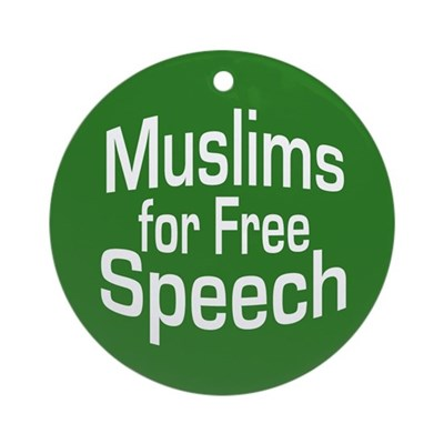 Muslims for Free Speech Ornament (Round)