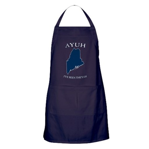 Ayuh, I've Been Theyah  Maine Apron dark by CafePress