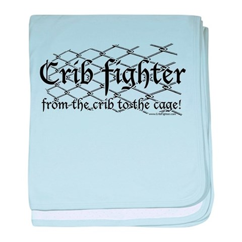Crib Fighter Cage  Funny baby blanket by CafePress