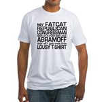 Fatcat Republican Abramoff Fitted T-Shirt