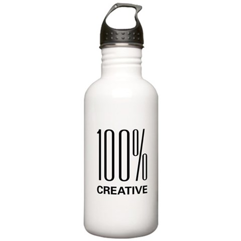 100 Percent Creative  Art Stainless Water Bottle 1.0L by CafePress