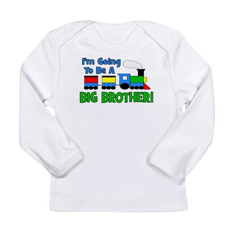 Big Brother To Be TRAIN  Baby Long Sleeve Infant T-Shirt by CafePress
