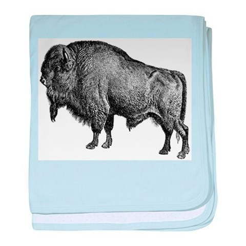 Bison  Nature baby blanket by CafePress