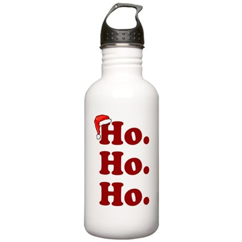 'Ho. Ho. Ho.'  Funny Stainless Water Bottle 1.0L by CafePress