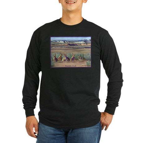 Rabbits Kanab Utah Long Sleeve Dark T-Shirt