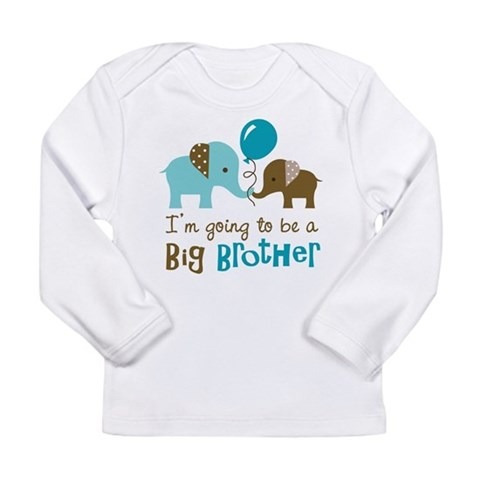 Big Brother to be - Elephant Long Sleeve Infant T- Family Long Sleeve Infant T-Shirt by CafePress