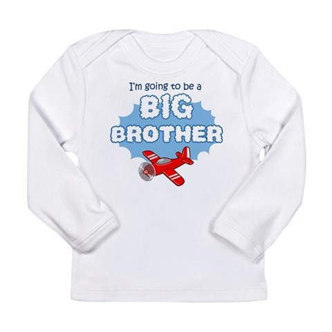 Big Brother to be -Airplane Long Sleeve Infant T-S Big brother Long Sleeve Infant T-Shirt by CafePress