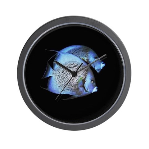 Night Angel Fish Wall Clock by CafePress