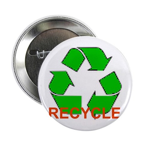 2.25 'RECYCLE' Button 10 pack Peace 2.25 Button 10 pack by CafePress
