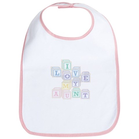 - Love Aunt blocks Cute Bib by CafePress