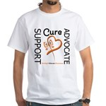 Multiple Sclerosis Support White T-Shirt