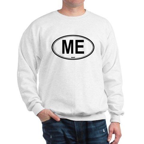 Maine ME euro Travel Sweatshirt by CafePress