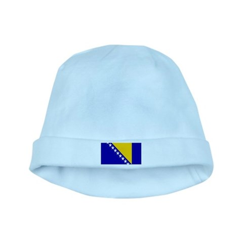 Bosnia Bosnian Blank Flag  Bosnia baby hat by CafePress