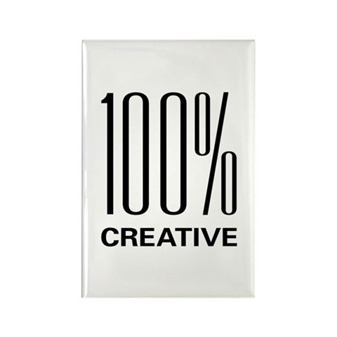 100 Percent Creative  Art Rectangle Magnet 100 pack by CafePress