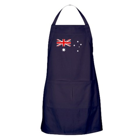Australian Flag Apron Union jack Apron dark by CafePress