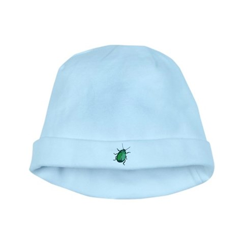 Big Green Beetle  Funny baby hat by CafePress