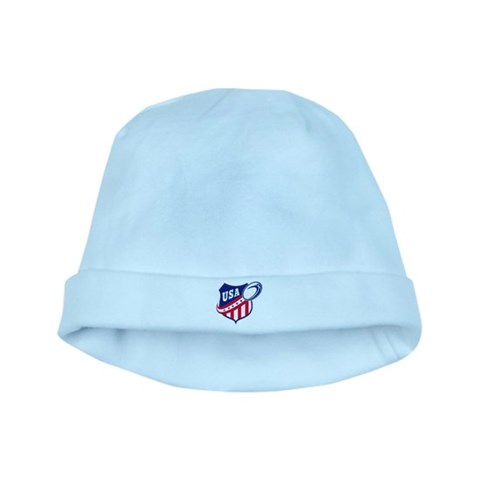 American rugby usa  Sports baby hat by CafePress