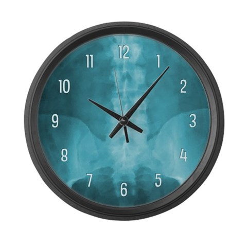 Blue Digital X-Ray Art  Doctor Large Wall Clock by CafePress