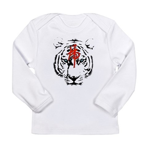 White Tiger  Pets Long Sleeve Infant T-Shirt by CafePress
