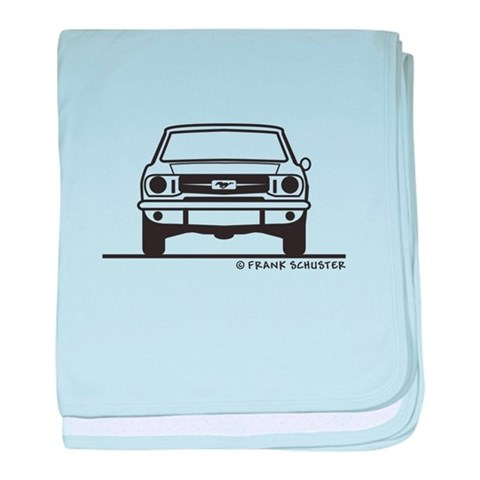 1965 Mustang Front  Back  Hobbies baby blanket by CafePress