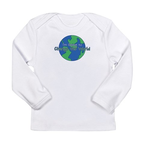 Change the World  Cute Long Sleeve Infant T-Shirt by CafePress