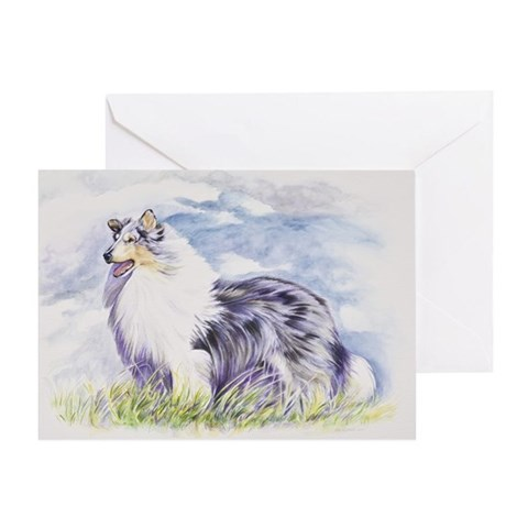 - Wind Dancing Art Pets Greeting Card by CafePress