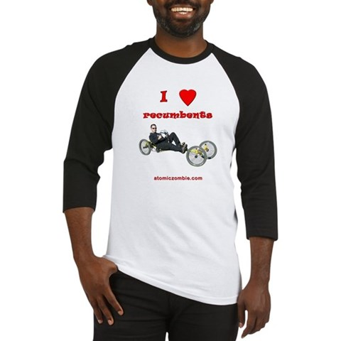 - I Love Recumbents Hobbies Baseball Jersey by CafePress