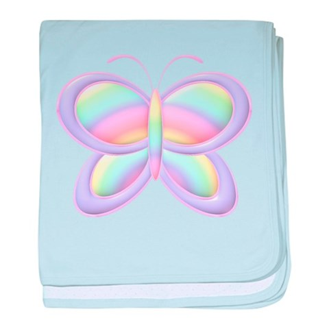 Butterfly Rainbow  Funny baby blanket by CafePress