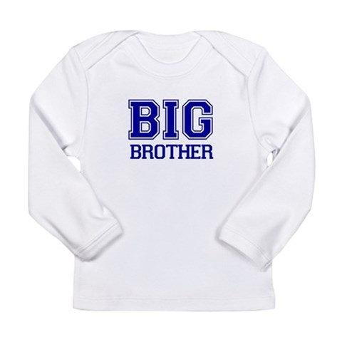 Big Brother  Cute Long Sleeve Infant T-Shirt by CafePress