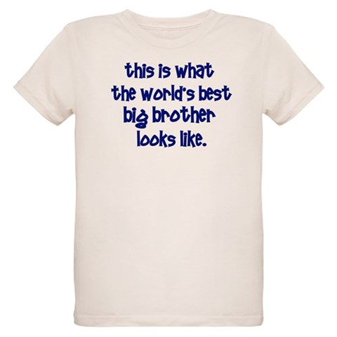 best big brother  Family Organic Kids T-Shirt by CafePress