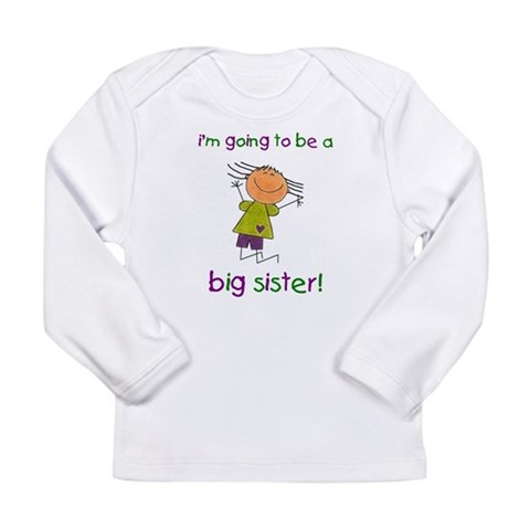 Big Sister  Family Long Sleeve Infant T-Shirt by CafePress