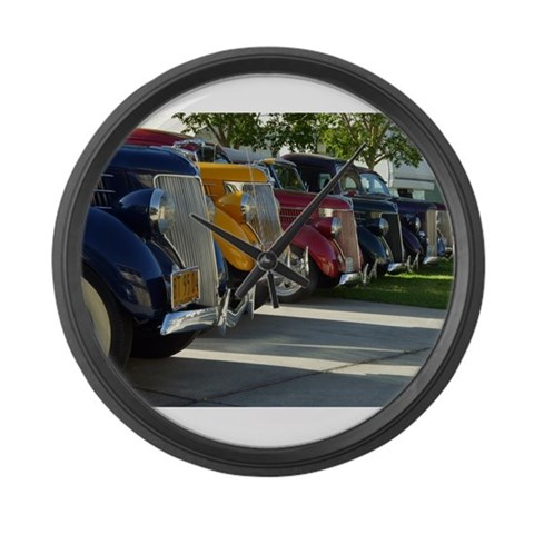 36 Ford Grill  Car Large Wall Clock by CafePress