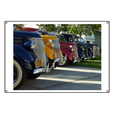 36 Ford Grill  Car Banner by CafePress