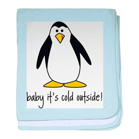cute penguin  Cool baby blanket by CafePress