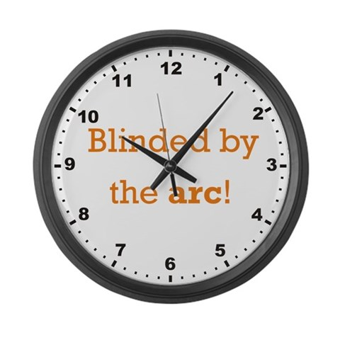 Blinded by the arc  Welding Large Wall Clock by CafePress