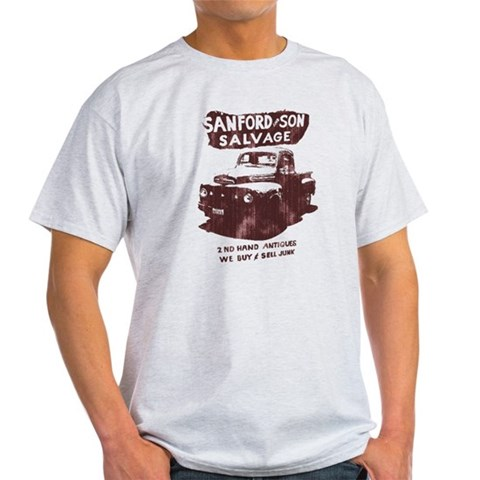 SANFORD  SON SALVAGE  Cupsreviewcomplete Light T-Shirt by CafePress