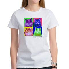 Whimsical Cats Womens T-shirt