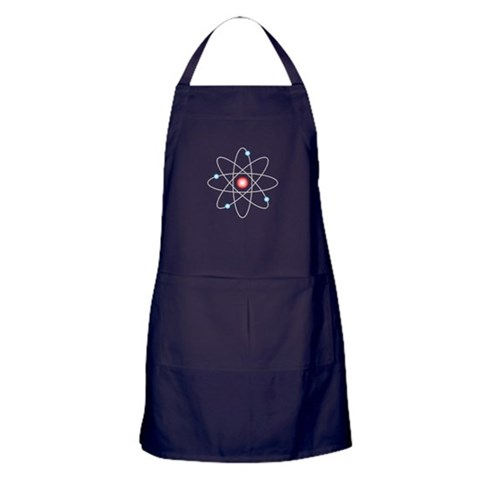 Atomic  Geek Apron dark by CafePress