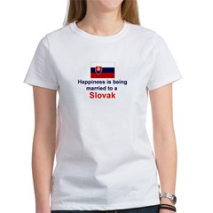 Happily Married To A Slovak Women's T-Shirt