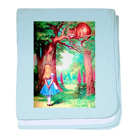 ALICE  CHESHIRE CAT  Funny baby blanket by CafePress