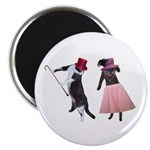 Fancy Dance Cats Magnet